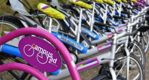 campusräder an der Radstation 101